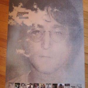 John Lennon Imagine NEW 2000 Promo Poster